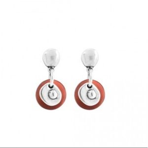 UNOde50 NACARONI Stacked Glass Disc Drop Earring